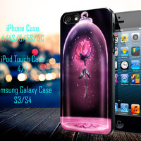 Rose Beauty and The Beast Samsung Galaxy S3/ S4 case, iPhone 4/4S / 5/ 5s/ 5c case, iPod Touch 4 / 5 case