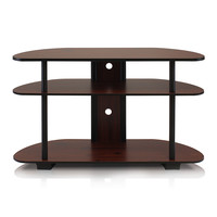 Dark Cherry Three-Tier TV Entertainment Center