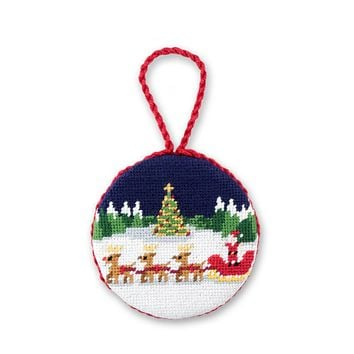 North Pole Needlepoint Ornament by Smathers & Branson
