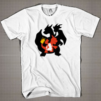 Charmander Evolution  Mens and Women T-Shirt Available Color Black And White