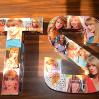 Taylor Swift collage letters. Made to order celebrity letters