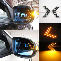 Durable 14 LED 1210 SMD Arrow Panels for Car Side Mirror Turn Lights A Pair CA04