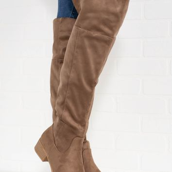 Arthur Taupe Suede Boots