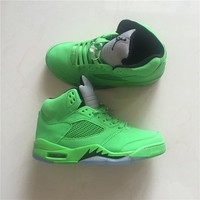 Air Jordan 5 Retro Green Sport Sneaker Shoe Us8 13