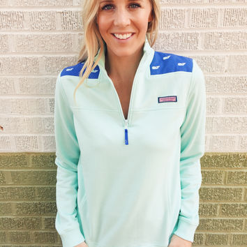 Vineyard Vines Whale Embroidered Shep Shirt- Wintermint