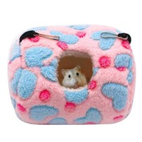 Winter Warm Hamster House Cage Birds Pets Rat Hammock Hanging Beds Nest for Hamster Small Animal Cages Pet Supplies