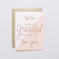 Colorblock Grateful Card