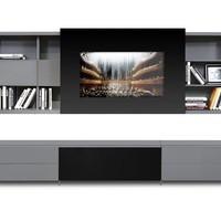 Stylish iPhone or iPad Dock Sloted Large Entertainment Center