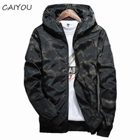 2017 Spring Autumn Mens Casual Camouflage Hoodie Jacket Men Waterproof Clothing Men's Windjacket Coat Male Outwear 4XL