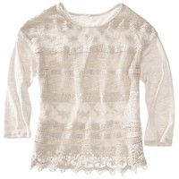 Xhilaration® Juniors Lace Top - Assorted Colors