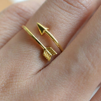 2016 Vintage Bijoux Femme One Direction Tiny Arrow Wrap Rings Pink Gold Plated Knuckle Midi Ring Women Men Jewelry Wedding Gift