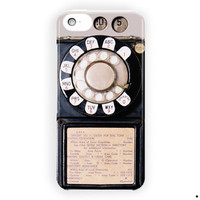 Vintage Payphone Retro Cute Cool For iPhone 5 / 5S / 5C Case
