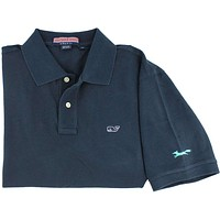 Classic Polo in Vineyard Navy by Vineyard Vines, Featuring Longshanks the Fox - OLD COLOR FOX LOGO
