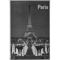 "Paris Poster Black and White Poster 16""x24"""