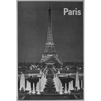"""Paris Poster Black and White Poster 16""""x24"""""""