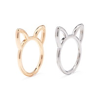 Cat-Shaped Cutout Ring Set