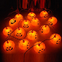 16Pcs/Set Halloween LED Fairy Tale Garden Pumpkins Lights Christmas Birthday Party Led Decoration Lights (Color: Orange) = 1945800004