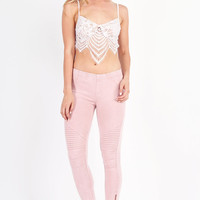 Motorcycle Jegging- Dusty Pink @ LushFox.com :: Current Fashion Trends & Styles