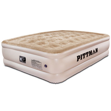 Inflatable Queen Air Mattress Bed Ultra Plush Camping Hiking with Built-in Pump