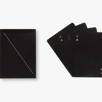 Minim Black Playing Cards by Areaware
