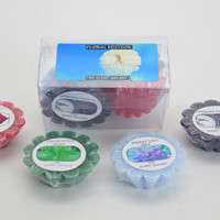 Floral Scented  candle wax tart Pack of 4  Violet lily, lavender vanilla, rose and mint long lasting fragrance for Aromatherapy