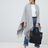 ASOS DESIGN plain cape in gray | ASOS