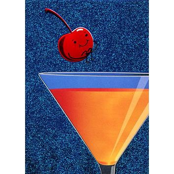 Birthday Greeting Card  - Cherry Bomb