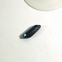 1 Raw Quartz Pendant - Painted Blue Metallic Crystal Quartz Pendant Bead - Jewelry Supplies, wire wrapping