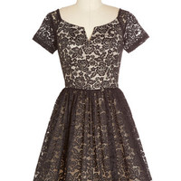 Chi Chi London Vintage Inspired Mid-length Short Sleeves Fit & Flare Fine-tune Your Flounce Dress