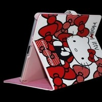 Hello Kitty Cute Leather Case Stand for Apple iPad2/The New iPad