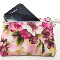 Pink Floral Padded Camera Gadget Zip Bag