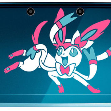 Pokemon Eeveelutions, Sylveon 3 color 3DS or 3DS XL Decal