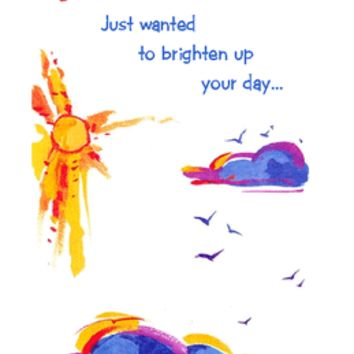Thinking of You Printable Card: 'To Brighten Up Your Day'