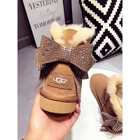 "shosouvenir : ""UGG"" Women male Fashion Wool Snow Boots"