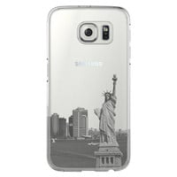 New York Statue of Liberty Skyline Samsung Galaxy S6 Edge Clear Case S6 Case S5 Transparent Cover iPhone 6s plus Case