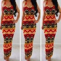 Women's Summer Sexy Party Club Bodycon Sheath Casual Elegant Vintage Print Red Heart Lovely Dress