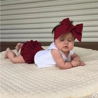 3 PCS Child Toddler Baby Girl Clothing Tops Summer Top Rabbit Sleeveless Bottoms Headband Outfit Clothes Baby Girls Set