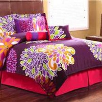 Flower Show Comforter Set by PEM America - Flower Show - Polyester - Polyester