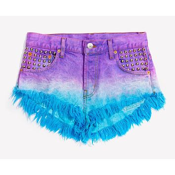611 Queen Studded Babe Shorts - Limited