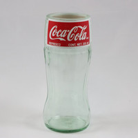Drinking Glass  Recycled Coke Bottle by CountryRichDesigns on Etsy