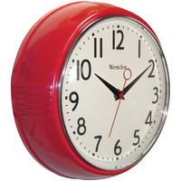 "Westclox 9.5"" Retro 1950s Kitchen Wall Clock"