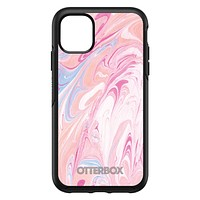 DistinctInk™ OtterBox Symmetry Series Case for Apple iPhone / Samsung Galaxy / Google Pixel - Pink Blue White Marble