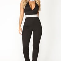 The Way It Goes Jumpsuit - Black