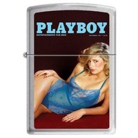 Zippo 9924 Classic Playboy Cover November 1981 Brushed Chrome Finish Windproof Pocket Lighter