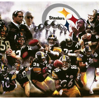 Pittsburgh Steelers NFL Super Bowl Poster 11x17