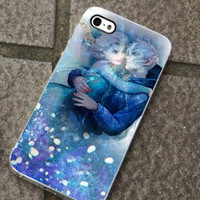 Frozen-Romantic Jack Frost and Elsa for iPhone 4/4s/5/5c/5s, Samsung S3/S4 case cover, gift under 25