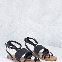 Ankle-Strap Braided Sandals