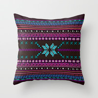 Aztec #1 Throw Pillow by Emiliano Morciano (Ateyo)