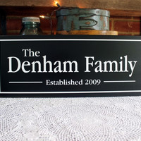 Custom Family Name Sign Established Date Personalized Wood Wall Decor, Wedding Gift, Anniversary, Mother's Day Gift,