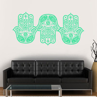 Wall Decal Vinyl Sticker Decals Art Decor Design 3 Hamsa Hands yin yang Indian Buddha Ganesh Lotos Modern Bedroom Dorm Office Mural  (r1055)
